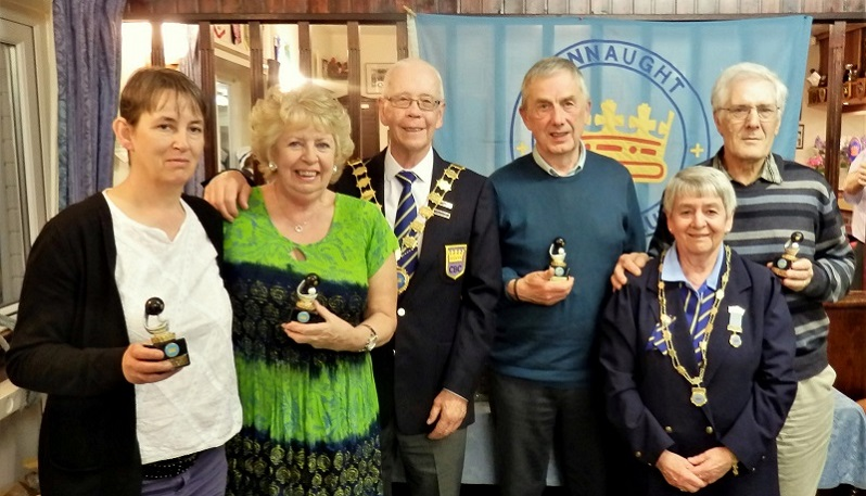 Autumn League Runner Up Jo Barnes & Jenny Moon,  Richard Harrison & Joe Li Rocchi