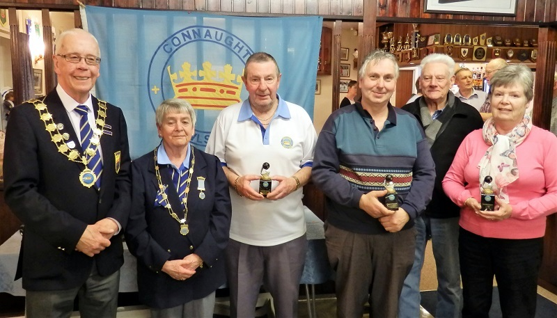 Autumn League Winner Roy Taylor, Richard Broad Peter King & Val Hambling
