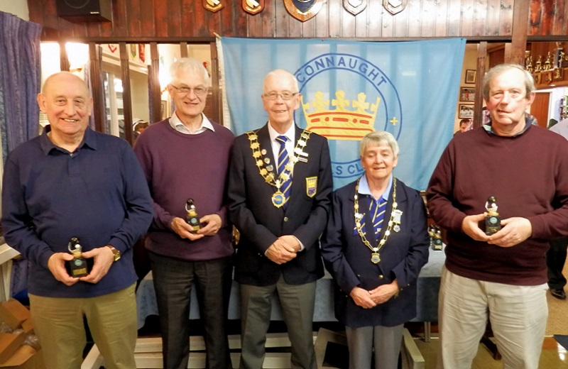 Spring League	Winners Jim Squire, Brian Matthews, Jim Squire, Mike Smail *(Mary Fallows)