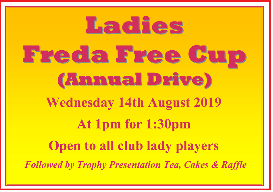 Ladies Freda Free Cup 2019 website poster